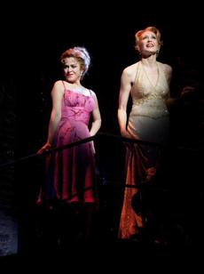 "Bernadette Peters, left, as Sally Durant Plummer and Jan Maxwell as Phyllis Rogers Stone in the musical ""Follies."""